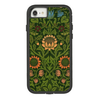 William Morris-Tapisserie-Wolldecke-roter grüner Case-Mate Tough Extreme iPhone 8/7 Hülle