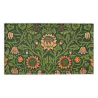 William Morris-Tapisserie-Wolldecke-roter grüner Namenschild