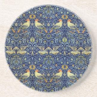 William Morris-Vogel-Muster Getränkeuntersetzer