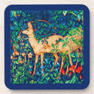 William Morris-Waldrotwild-Tapisserie-Druck Untersetzer