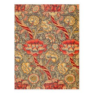 William Morris Wandle für Chintz-Entwurf Postkarte