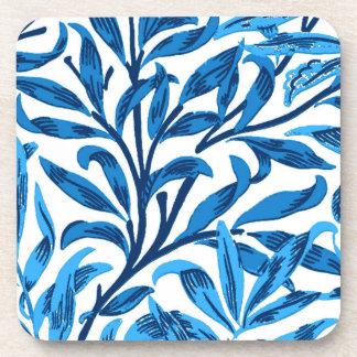 William Morris-Weide-Ast, Kobalt-Blau u. Weiß Untersetzer