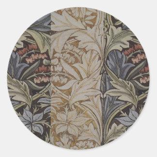 William Morrisbluebell-Gewebe-botanischer Druck Runder Aufkleber