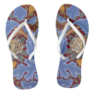 William Morrisblumentapeten-Muster Flip Flops