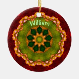 WILLIAM ~ personalisiertes Keramik Ornament