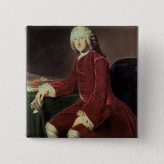 """William Pitt das """"Älteste"""", später 1. Graf von Quadratischer Button 5,1 Cm"""