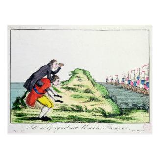 William Pitt, das französische Geschwader Postkarte