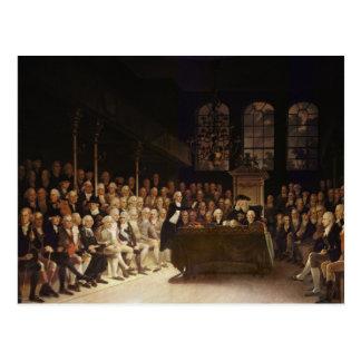 William Pitt, der das Haus adressiert Postkarte