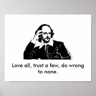 William Shakespeare-Plakat Poster
