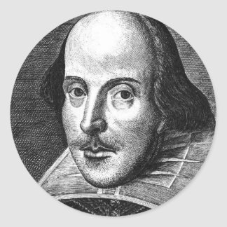 William Shakespeare Runder Aufkleber