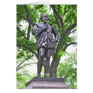 William Shakespeare-Statue im Central Park Karte