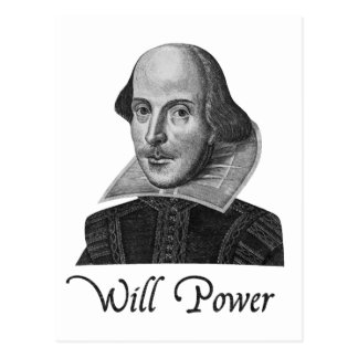 William Shakespeare wird Power Postkarte