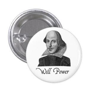 William Shakespeare wird Power Runder Button 2,5 Cm