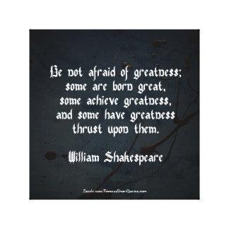 William Shakespeare-Zitat - Größe Leinwanddruck