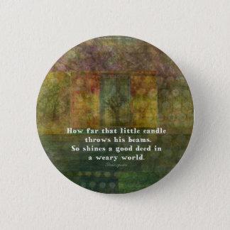 William Shakespeare-Zitat mit Malerei Runder Button 5,7 Cm