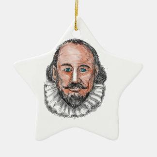 William ShakespearehauptAquarell Keramik Stern-Ornament