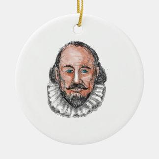William ShakespearehauptAquarell Rundes Keramik Ornament