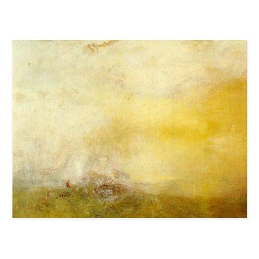 William Turner - Sonnenaufgang mit Seeungeheuern Postkarte