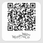William Walter und Code-Aufkleber Co QR Quadratischer Aufkleber