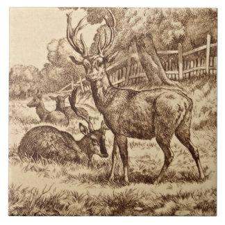 Williamkluge Tier-Reihen-Rotwild-Fliese 1879 Repro Fliese