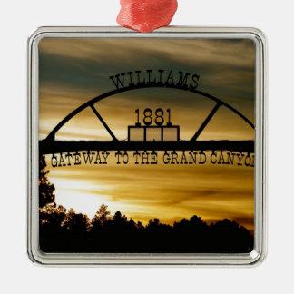 Williams-Zugang Silbernes Ornament