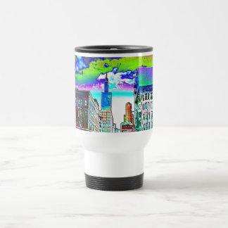Willis Turm in farbiger Folie Tassen