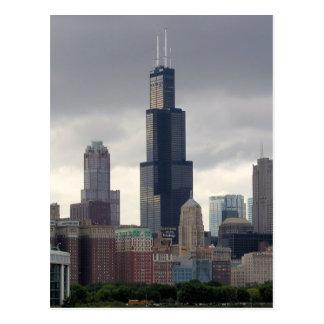 Willis Turm - Postkarte Chicagos, Illinois