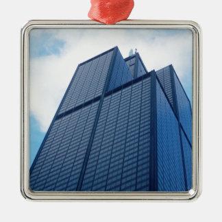 willis Turm Silbernes Ornament