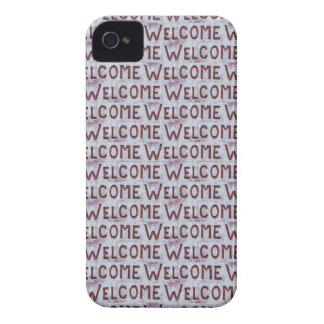 Willkommen beschriftet Muster iPhone 4 Case-Mate Hülle