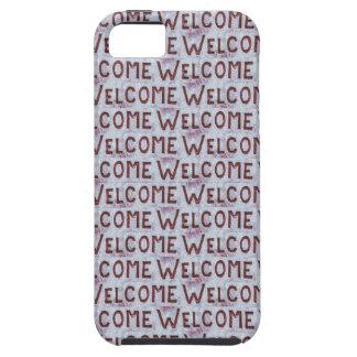 Willkommen beschriftet Muster iPhone 5 Etui