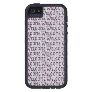 Willkommen beschriftet Muster iPhone 5 Hülle