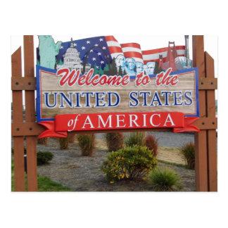 Willkommen in die USA Postkarte