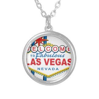 Willkommen nach fabelhaftes Las Vegas Halskette Mit Rundem Anhänger