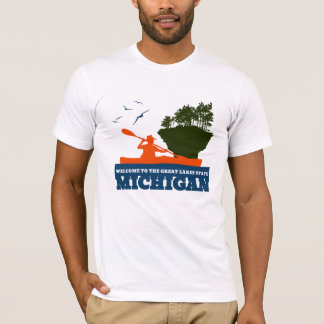 Willkommen nach Michigan (MI) - Farblogo T-Shirt