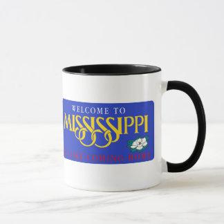 Willkommen nach Mississippi - USA Verkehrsschild Tasse