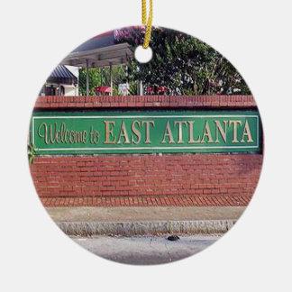 Willkommen nach Ostatlanta, Georgia Rundes Keramik Ornament