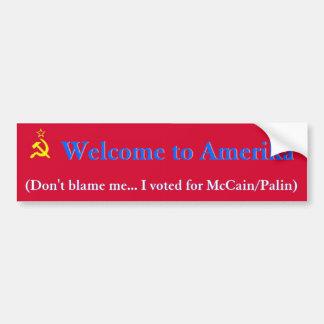Willkommen zu Amerika Autoaufkleber