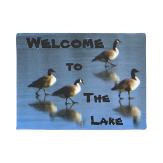 Willkommen zu den See-Gänsen eingefroren Doormat