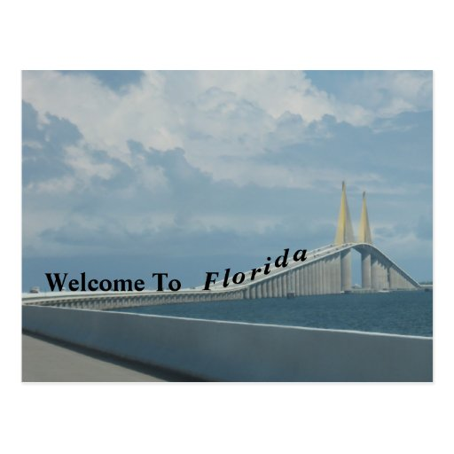 Willkommen zu Florida Postkarten