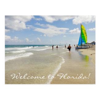 Willkommen zu Florida/zum Ozean und zum Strand Postkarte