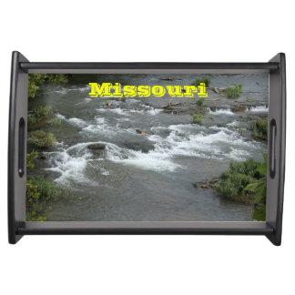 Willkommen zu hölzernem Serviertablett Missouris