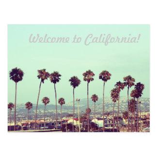 Willkommen zu Kalifornien! Postkarte