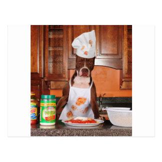 Willkommen zu meiner Küche Postkarte