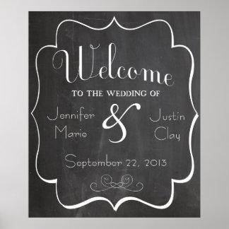 Willkommen zu unserem Hochzeits-Zeichen oder Poster