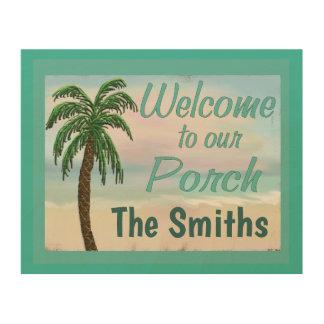 Willkommen zu unserer Portal-Strand-Palme Holzwanddeko