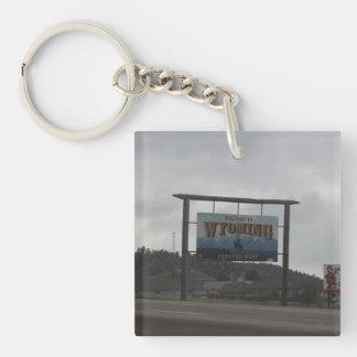 Willkommen zu Utah- und Wyomingschlüsselkette Schlüsselanhänger