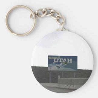 Willkommen zu Utahschlüsselkette Schlüsselanhänger