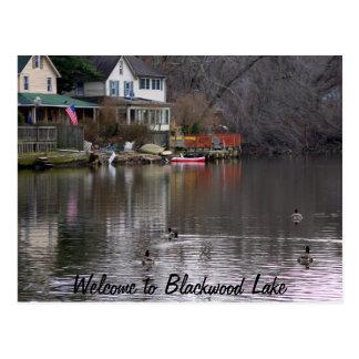 Willkommen zum Blackwood See Postkarte