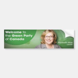 Willkommen zum grünen Party von Kanada-Führer kann Autoaufkleber