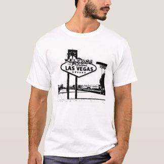 Willkommen zum Las- Vegasvektorgraphik-T - Shirt